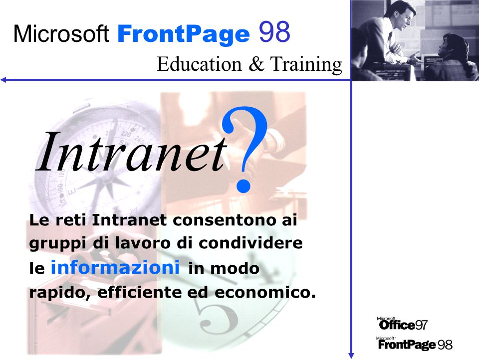 Education & Training Microsoft FrontPage 98 Intranet .