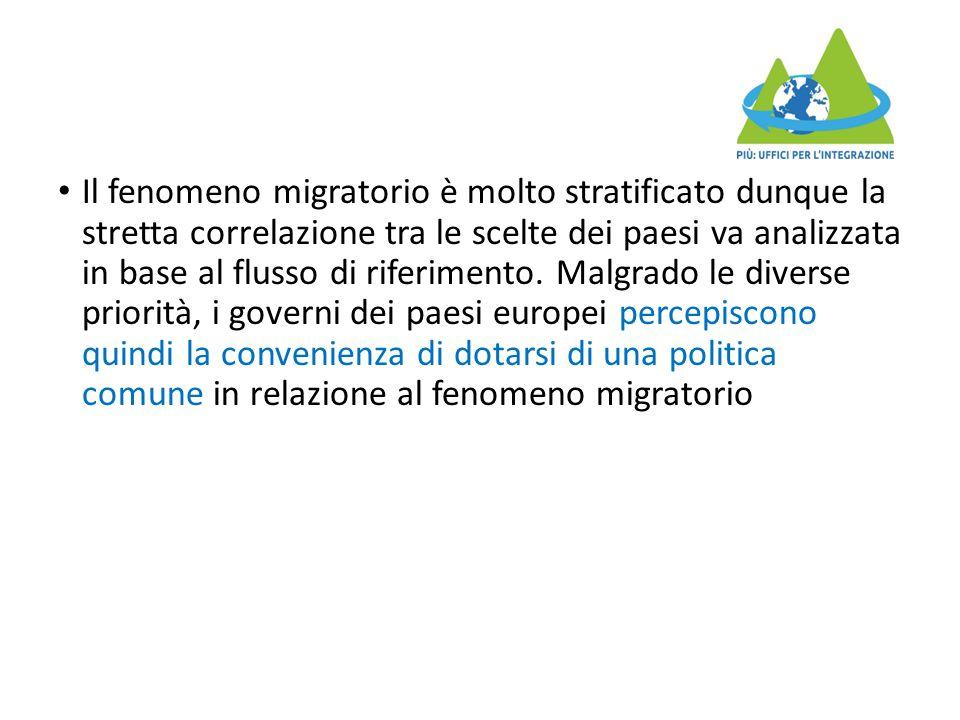 Il fenomeno migratorio è molto stratificato dunque la stretta correlazione tra le scelte dei paesi va analizzata in base al flusso di riferimento. Mal