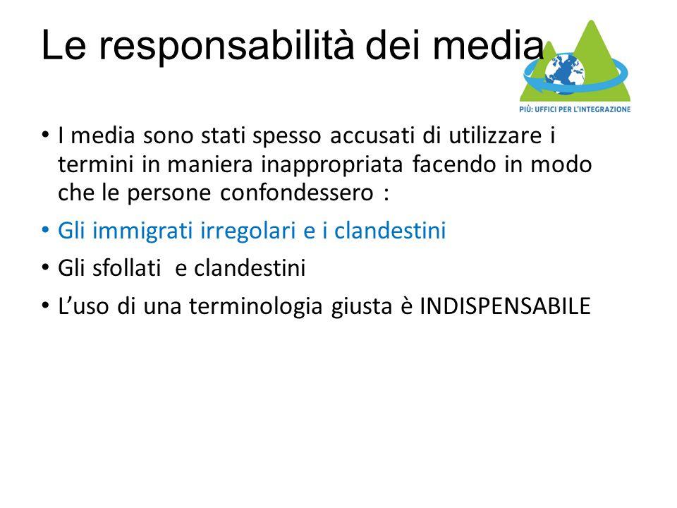 Le responsabilità dei media I media sono stati spesso accusati di utilizzare i termini in maniera inappropriata facendo in modo che le persone confond