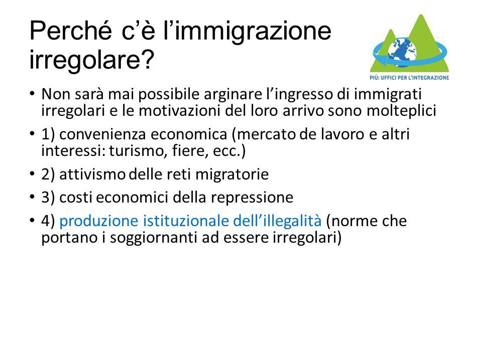 Perché c'è l'immigrazione irregolare? Non sarà mai possibile arginare l'ingresso di immigrati irregolari e le motivazioni del loro arrivo sono moltepl