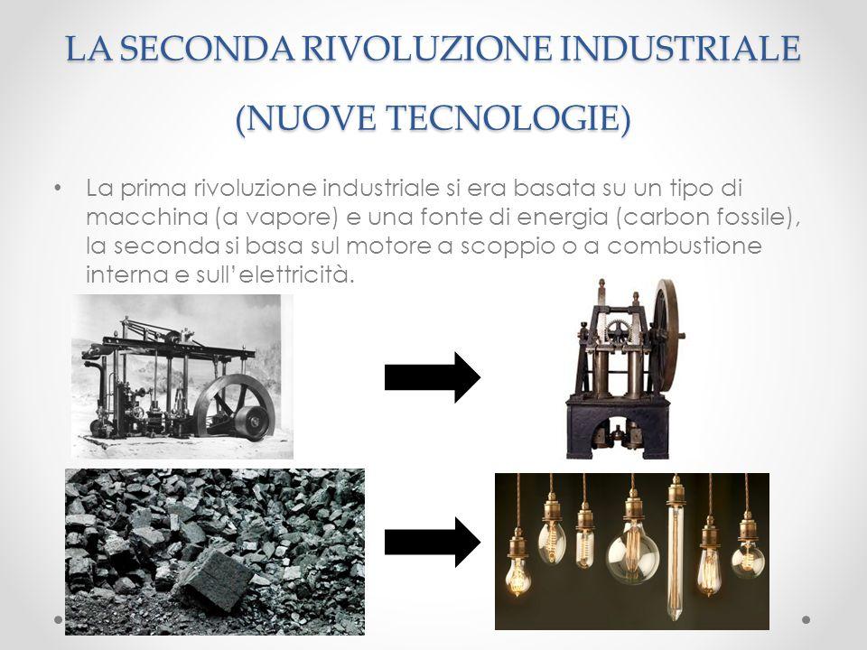 La prima rivoluzione industriale si era basata su un tipo di macchina (a vapore) e una fonte di energia (carbon fossile), la seconda si basa sul motor
