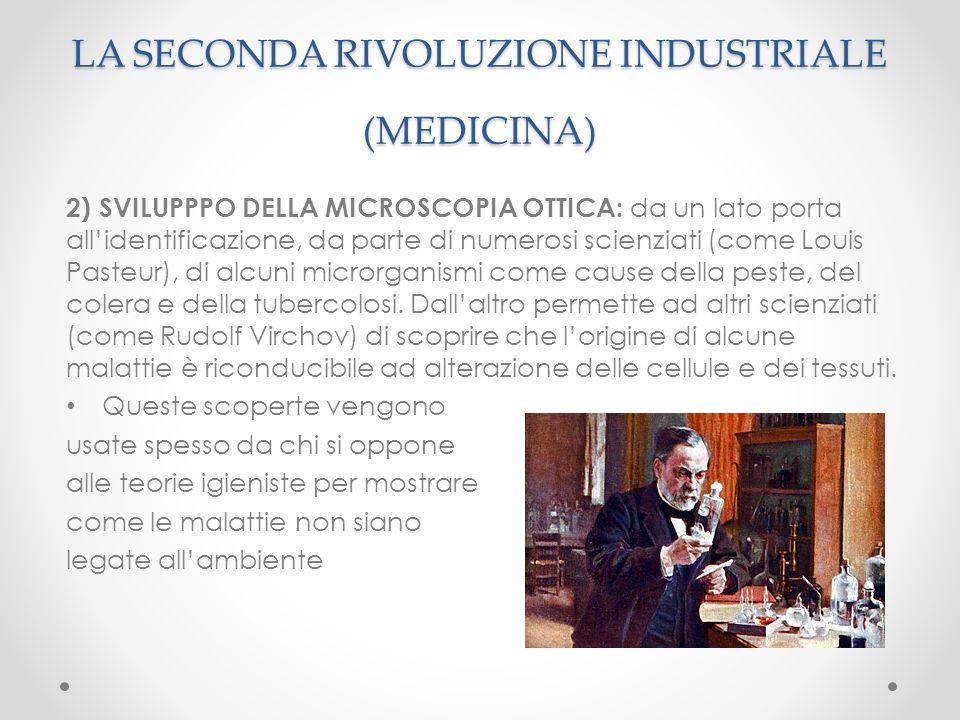 2) SVILUPPPO DELLA MICROSCOPIA OTTICA: da un lato porta all'identificazione, da parte di numerosi scienziati (come Louis Pasteur), di alcuni microrgan