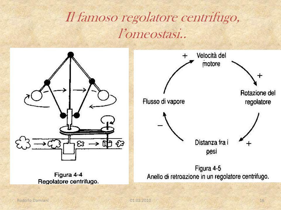 Rodolfo Damiani01.02.201016 Il famoso regolatore centrifugo, l'omeostasi..