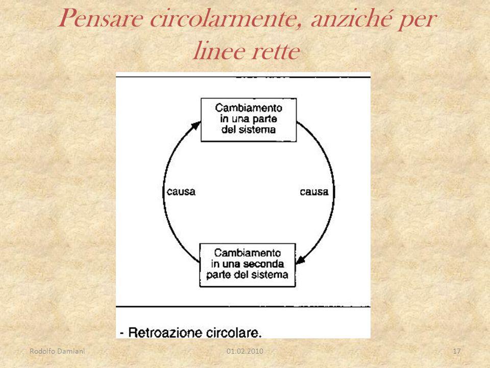 Rodolfo Damiani01.02.201017 Pensare circolarmente, anziché per linee rette