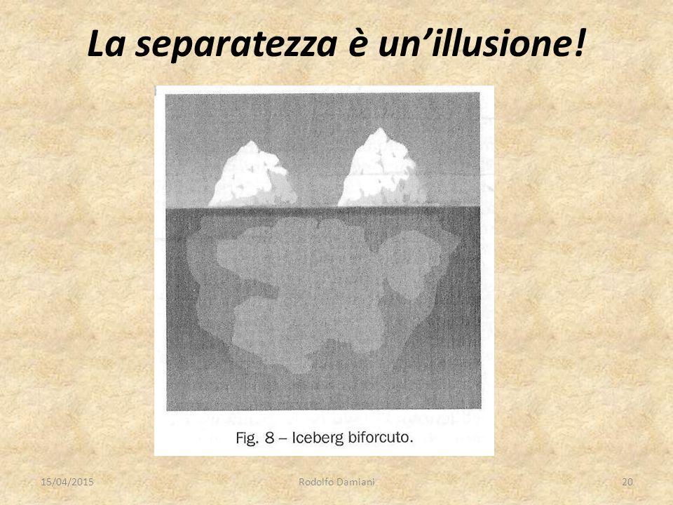 La separatezza è un'illusione! 15/04/2015Rodolfo Damiani20
