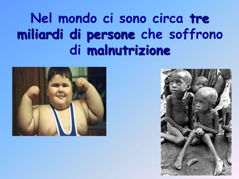 tre miliardi di persone malnutrizione Nel mondo ci sono circa tre miliardi di persone che soffrono di malnutrizione