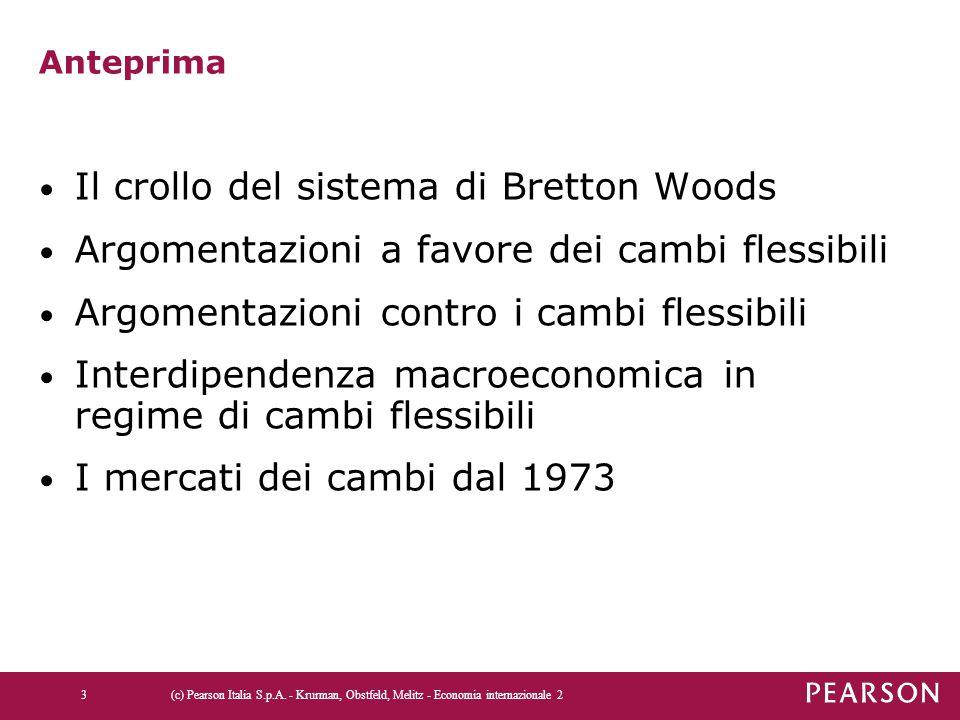 Anteprima Il crollo del sistema di Bretton Woods Argomentazioni a favore dei cambi flessibili Argomentazioni contro i cambi flessibili Interdipendenza