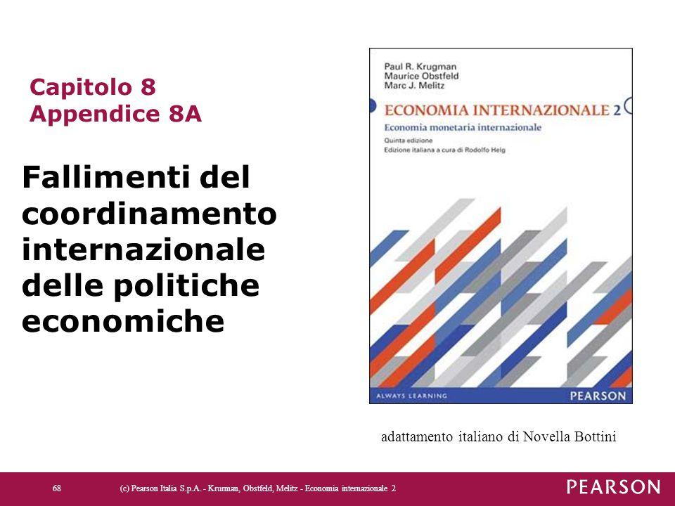 68 Capitolo 8 Appendice 8A Fallimenti del coordinamento internazionale delle politiche economiche adattamento italiano di Novella Bottini