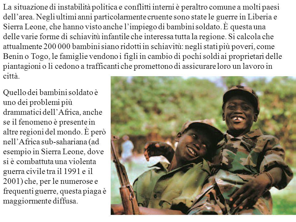 La situazione di instabilità politica e conflitti interni è peraltro comune a molti paesi dell'area. Negli ultimi anni particolarmente cruente sono st