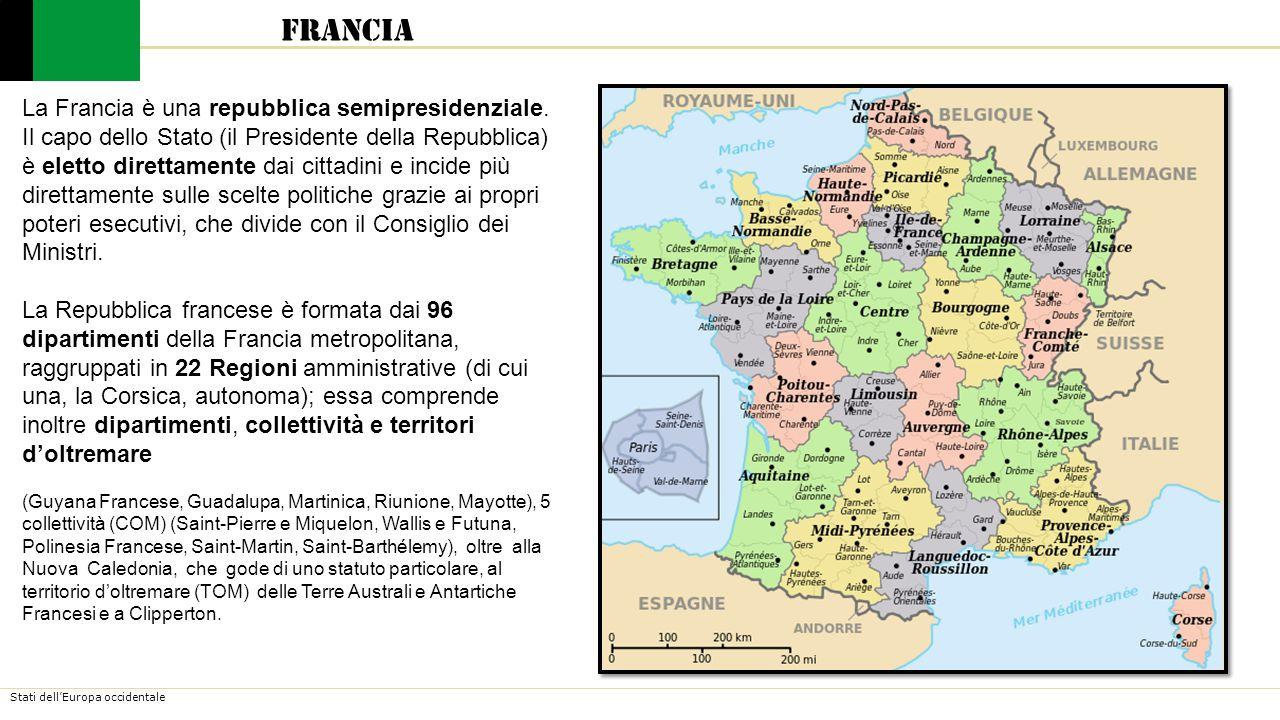 Stati dell'Europa occidentale Francia Classifica PIL stati mondiali