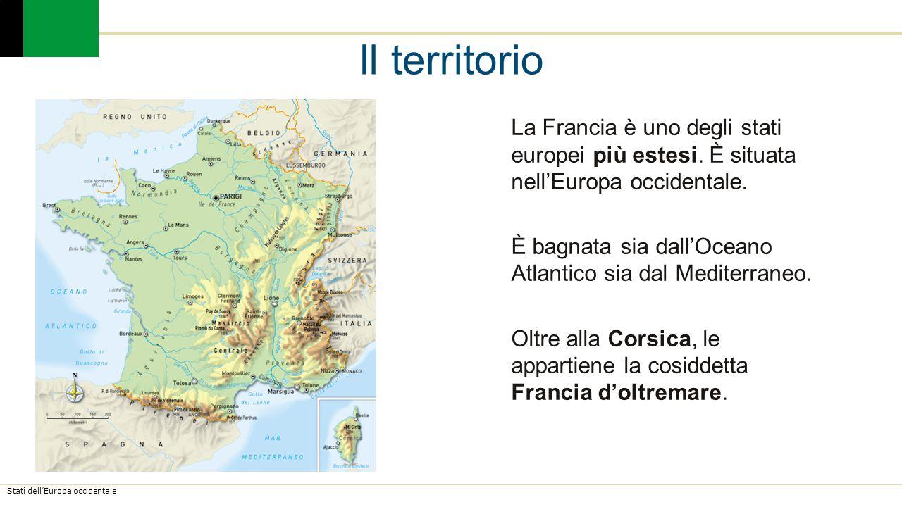 Stati dell'Europa occidentale Litorale vario con aree basse e sabbiose e altre alte con scogliere.