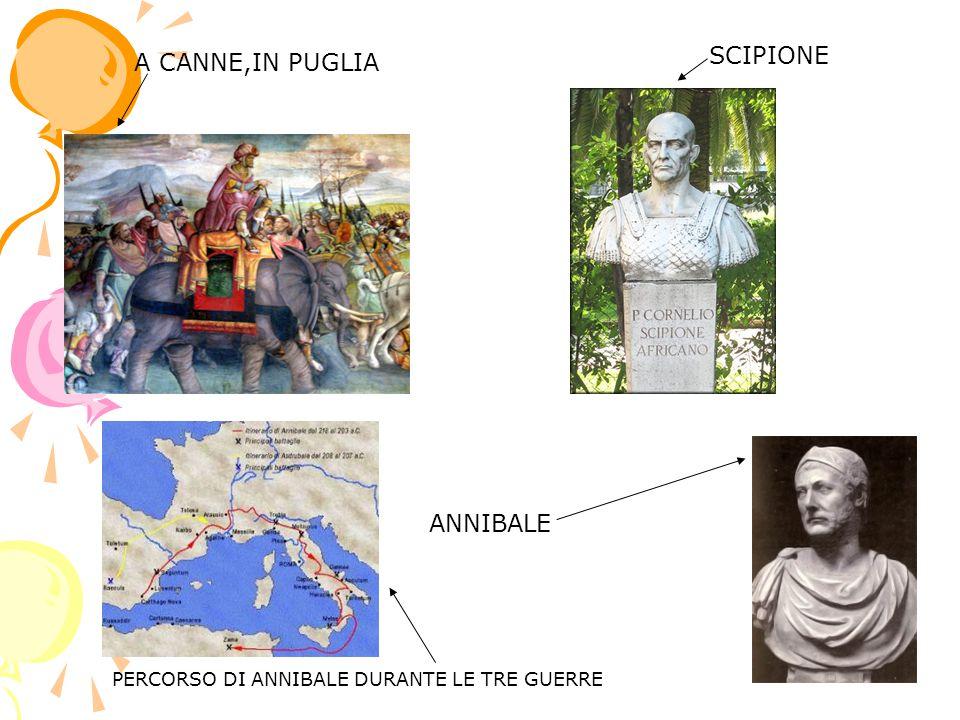 SCIPIONE A CANNE,IN PUGLIA PERCORSO DI ANNIBALE DURANTE LE TRE GUERRE ANNIBALE