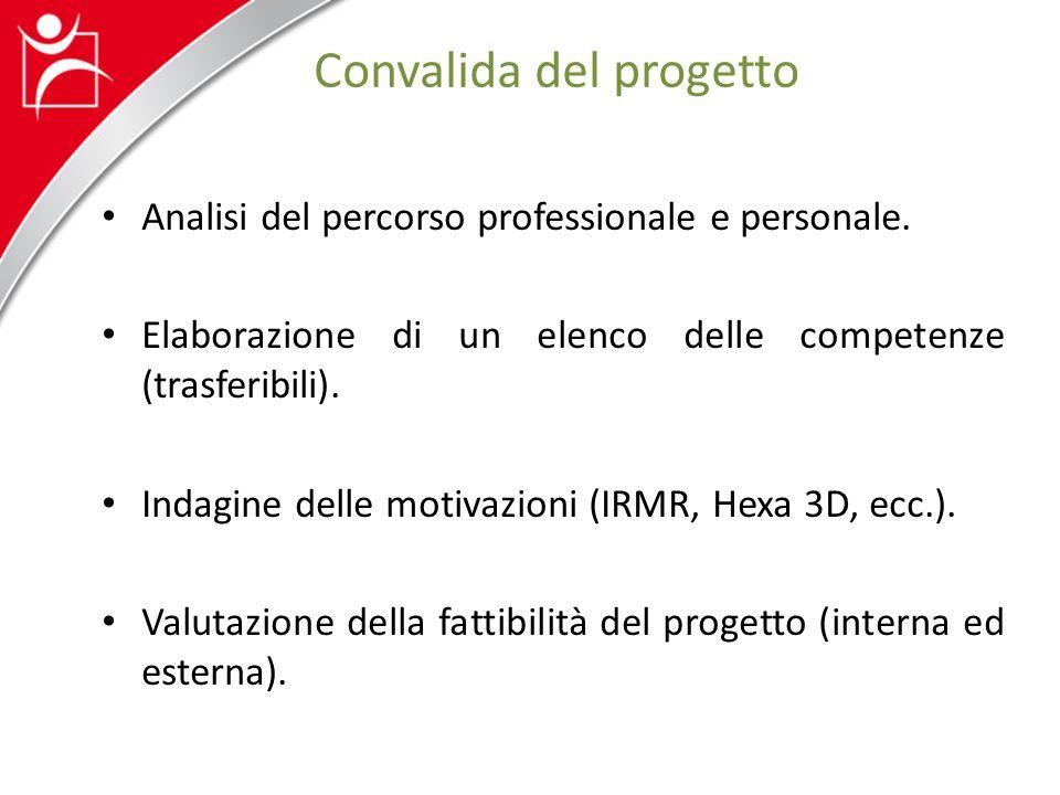 Convalida del progetto Analisi del percorso professionale e personale.