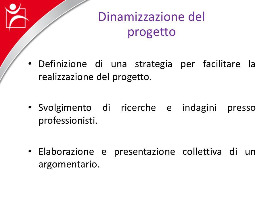 Sintesi Formalizzazione di un piano di azione (fasi e persone da incontrare).