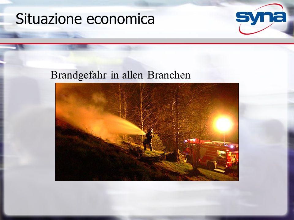 Situazione economica Brandgefahr in allen Branchen