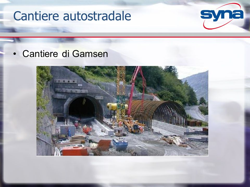 Cantiere autostradale Cantiere di Gamsen