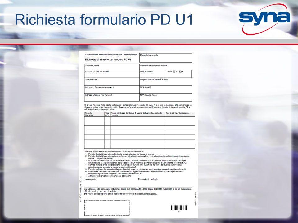Richiesta formulario PD U1