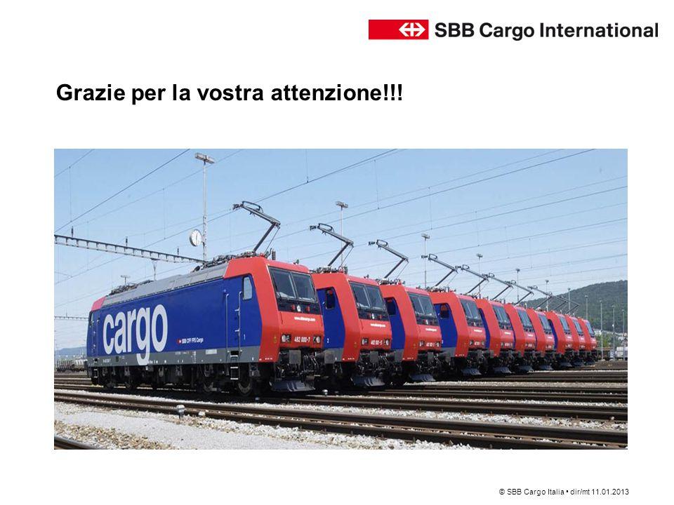 Grazie per la vostra attenzione!!! © SBB Cargo Italia dir/mt 11.01.2013