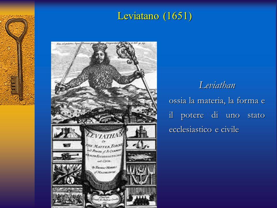 Leviathan ossia la materia, la forma e il potere di uno stato ecclesiastico e civile Leviatano (1651)