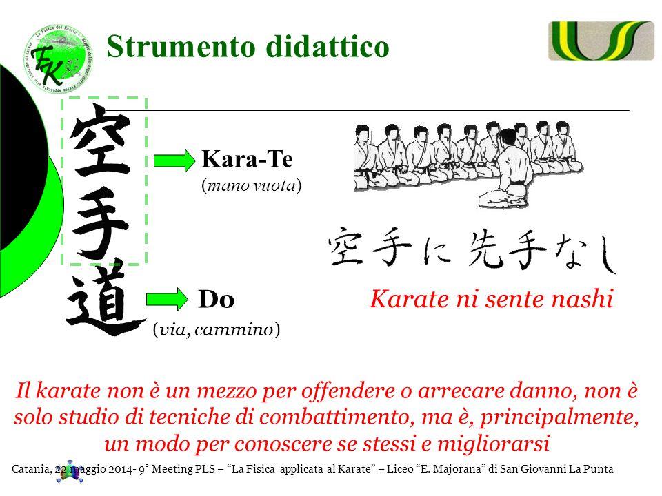 Strumento didattico Kara-Te (mano vuota) Do (via, cammino) Karate ni sente nashi Il karate non è un mezzo per offendere o arrecare danno, non è solo s
