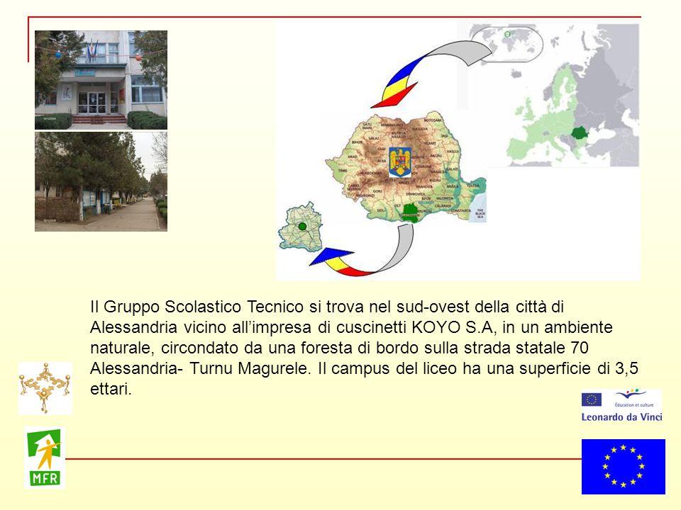 Il Gruppo Scolastico Tecnico si trova nel sud-ovest della città di Alessandria vicino all'impresa di cuscinetti KOYO S.A, in un ambiente naturale, cir