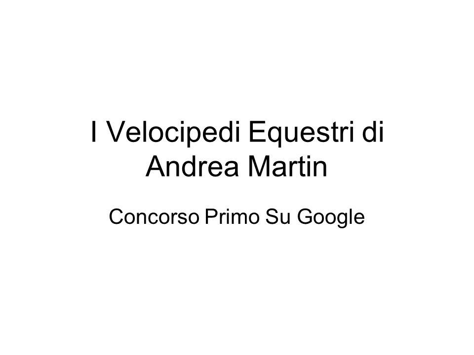 I Velocipedi Equestri di Andrea Martin Concorso Primo Su Google
