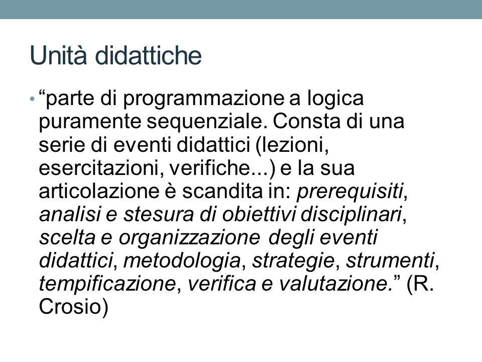Unità didattiche parte di programmazione a logica puramente sequenziale.