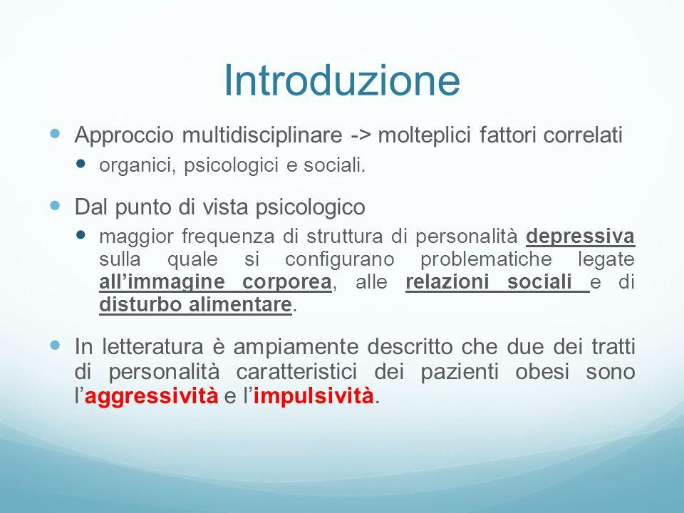 Introduzione Approccio multidisciplinare -> molteplici fattori correlati organici, psicologici e sociali.