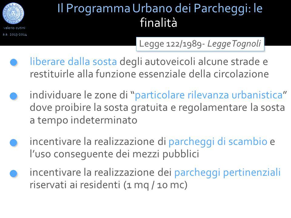 valerio cutini Il Programma Urbano dei Parcheggi: le finalità a.a.