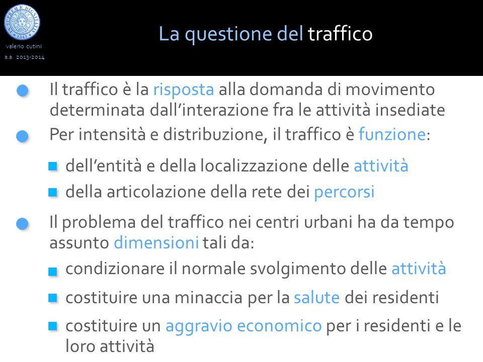 valerio cutini La questione del traffico a.a.