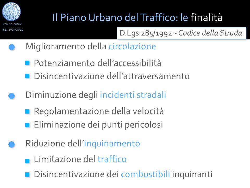 valerio cutini Il Piano Urbano del Traffico: le finalità a.a.