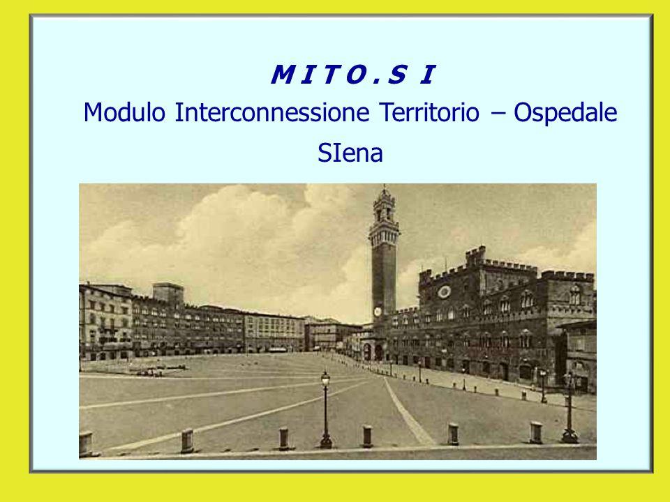 M I T O. S I Modulo Interconnessione Territorio – Ospedale SIena