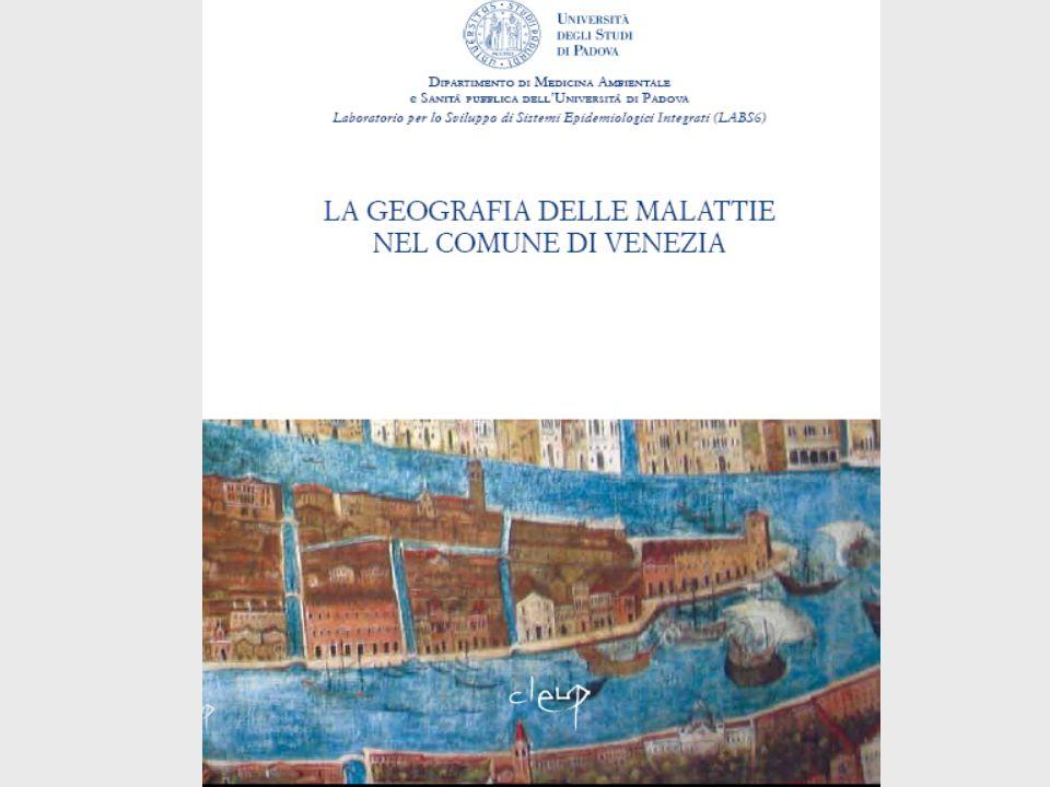 Rapporto sulla salute nei sestieri-quartieri veneziani 2002-2006 Prevalenza Diabete (algoritmo AIE/SISMEC) entrambi i sessi