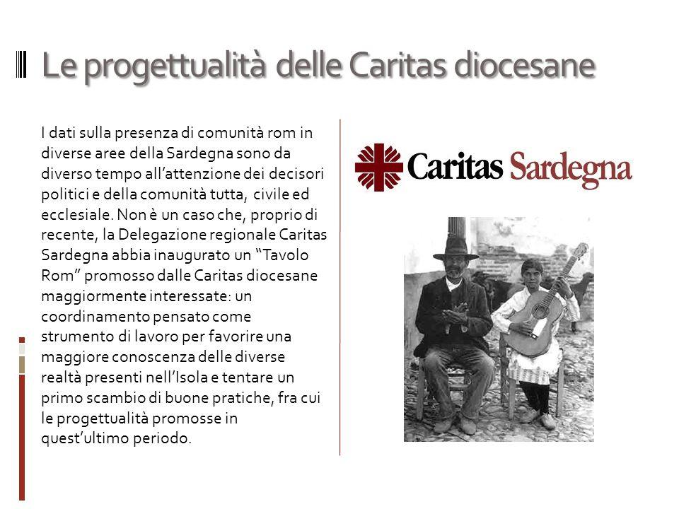 Le progettualità delle Caritas diocesane I dati sulla presenza di comunità rom in diverse aree della Sardegna sono da diverso tempo all'attenzione dei decisori politici e della comunità tutta, civile ed ecclesiale.