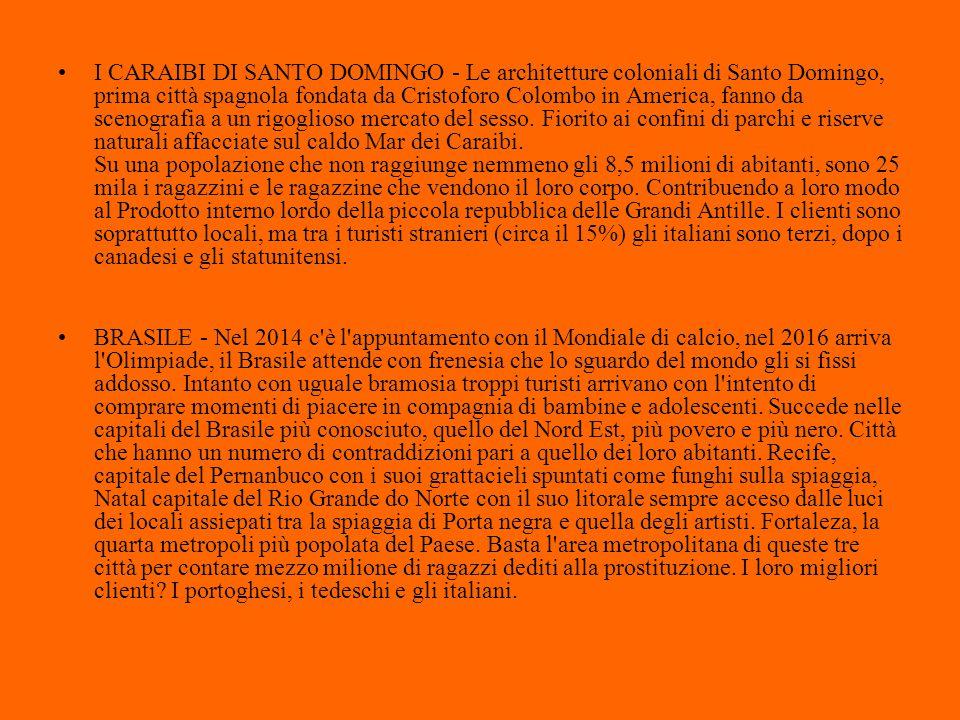 I CARAIBI DI SANTO DOMINGO - Le architetture coloniali di Santo Domingo, prima città spagnola fondata da Cristoforo Colombo in America, fanno da sceno