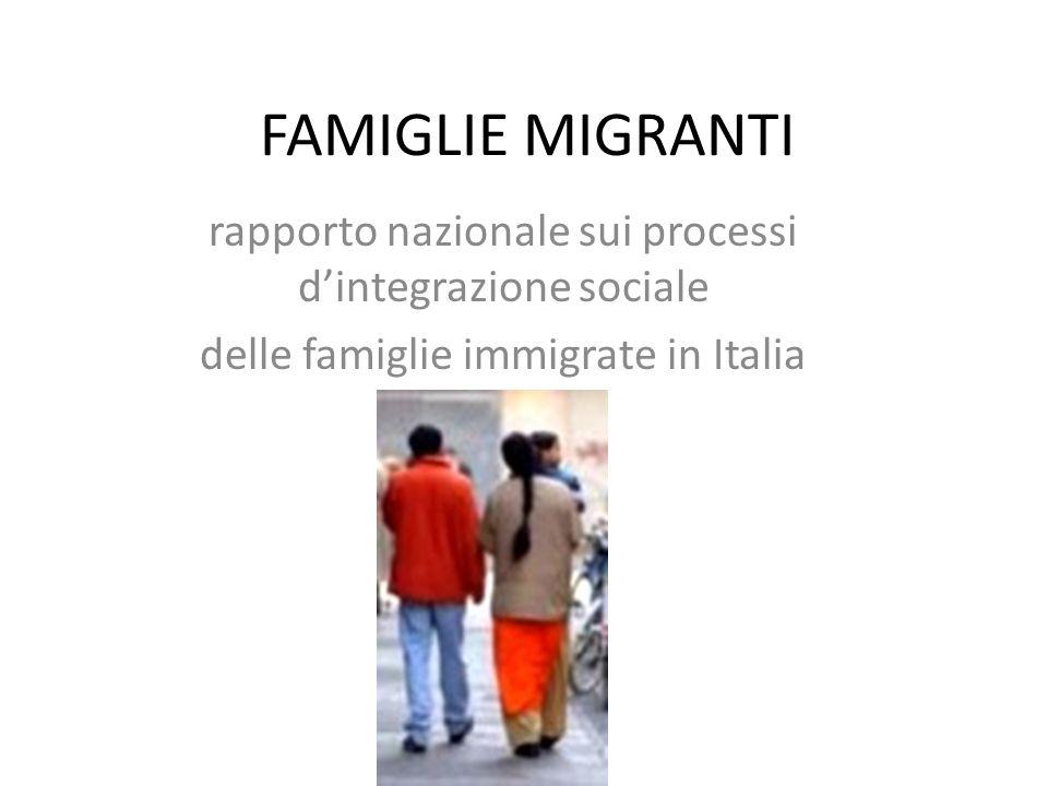 FAMIGLIE MIGRANTI rapporto nazionale sui processi d'integrazione sociale delle famiglie immigrate in Italia