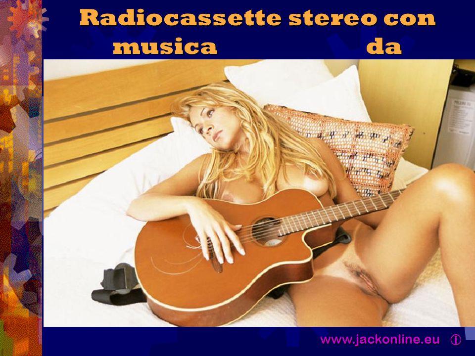 www.jackonline.eu  www.jackonline.eu  Radiocassette stereo con musica da chitarra...
