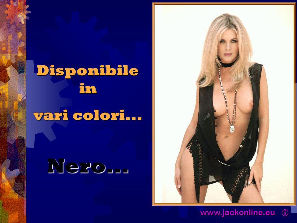 www.jackonline.eu  www.jackonline.eu  Disponibile in vari colori... Nero...