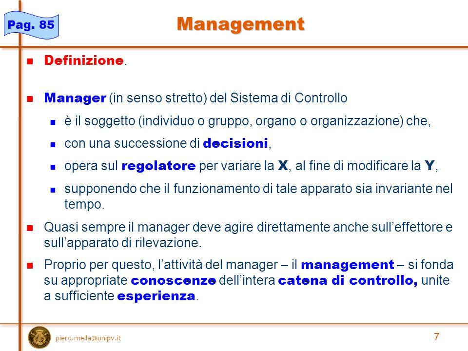 8 piero.mella@unipv.it Governance Definizione.