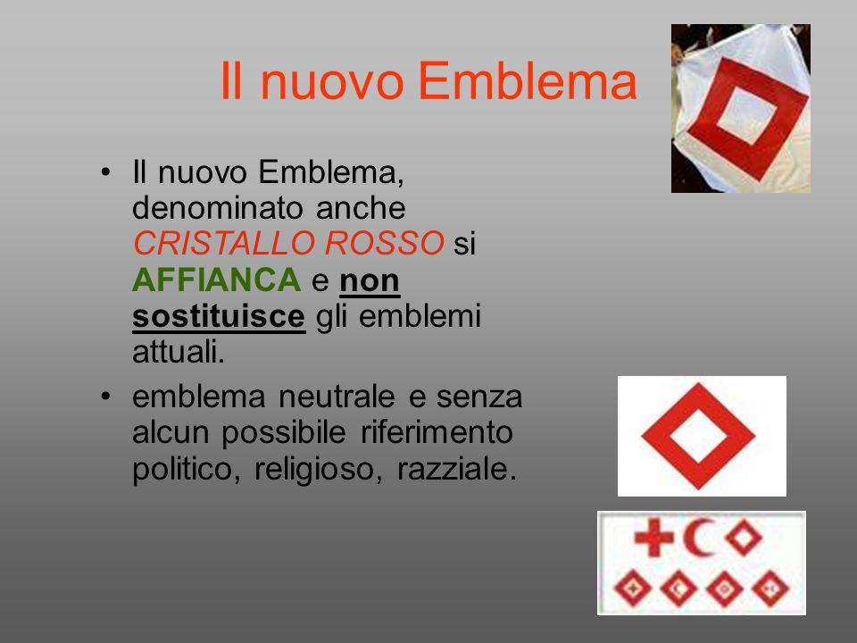 Il nuovo Emblema Il nuovo Emblema, denominato anche CRISTALLO ROSSO si AFFIANCA e non sostituisce gli emblemi attuali. emblema neutrale e senza alcun