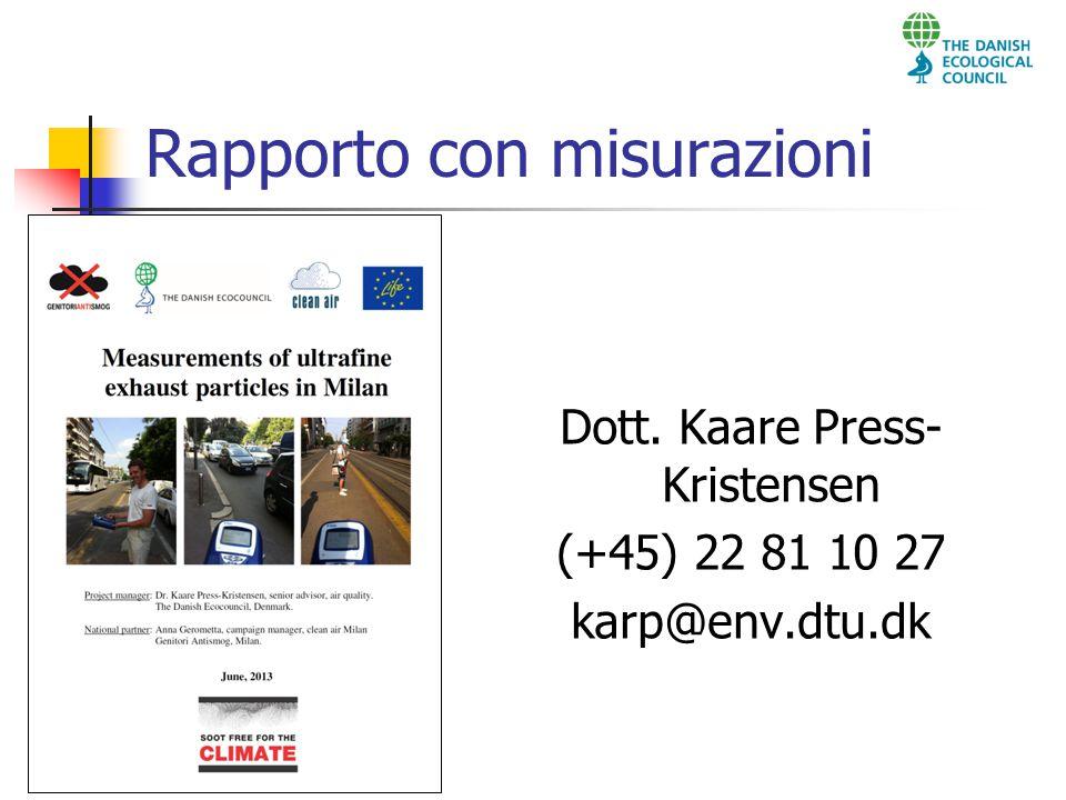 Rapporto con misurazioni Dott. Kaare Press- Kristensen (+45) 22 81 10 27 karp@env.dtu.dk
