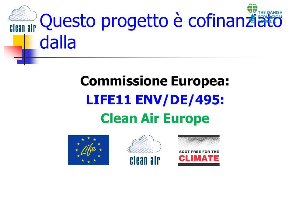 Questo progetto è cofinanziato dalla Commissione Europea: LIFE11 ENV/DE/495: Clean Air Europe