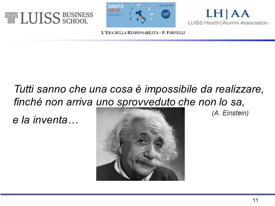 11 Tutti sanno che una cosa è impossibile da realizzare, finché non arriva uno sprovveduto che non lo sa, (A.