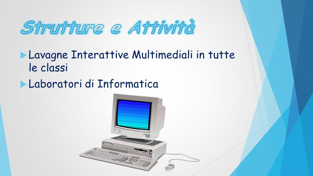  Lavagne Interattive Multimediali in tutte le classi  Laboratori di Informatica