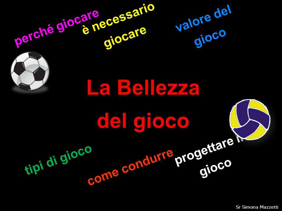 La Bellezza del gioco perché giocare è necessario giocare valore del gioco tipi di gioco come condurre progettare il gioco 1Sr Simona Mazzetti