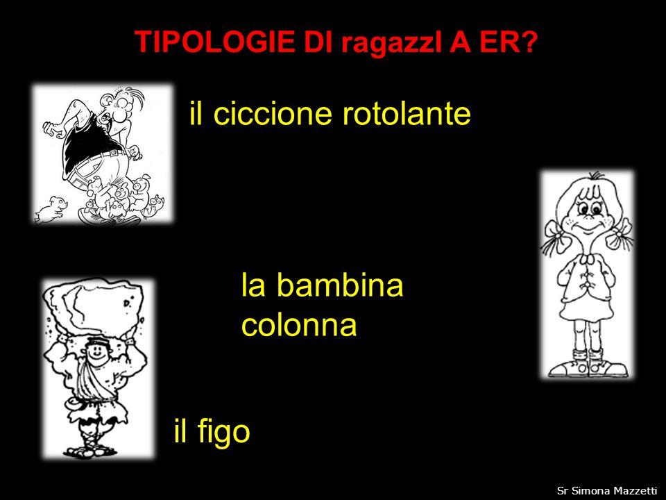 TIPOLOGIE DI ragazzI A ER? il ciccione rotolante la bambina colonna il figo 13Sr Simona Mazzetti