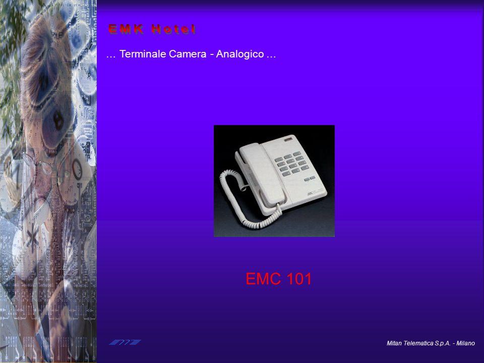 Mitan Telematica S.p.A. - Milano … Terminale Camera - Analogico … EMC 101