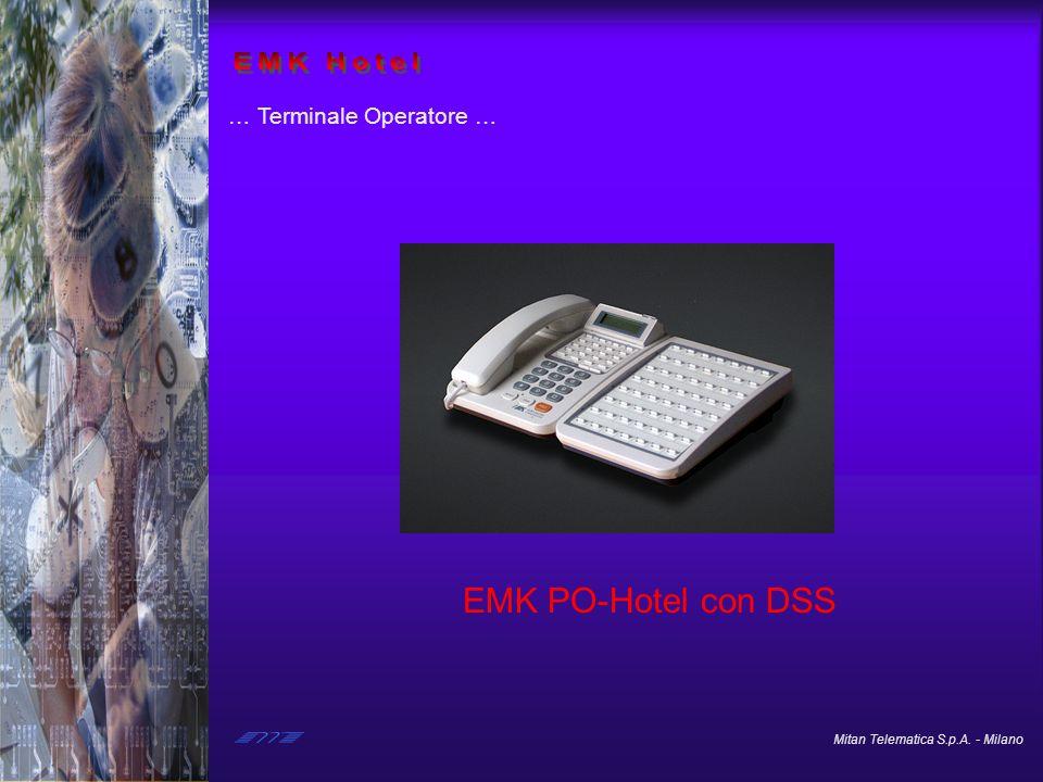 Mitan Telematica S.p.A. - Milano … Terminale Operatore … EMK PO-Hotel con DSS