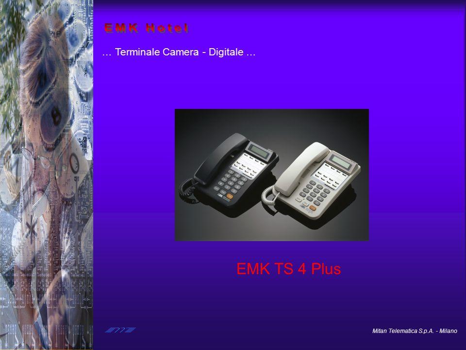 Mitan Telematica S.p.A. - Milano … Terminale Camera - Analogico … EMC 103