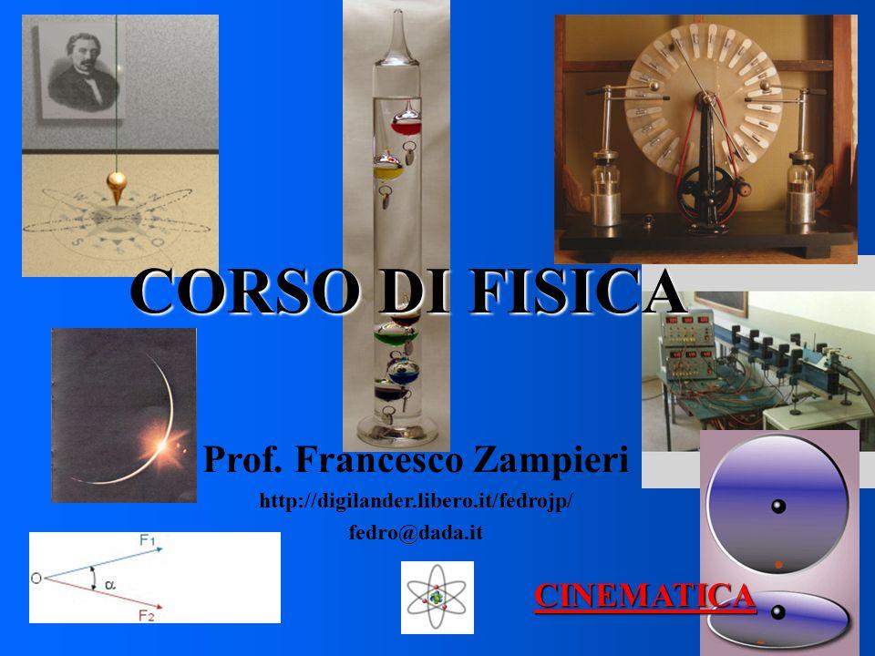 CORSO DI FISICA Prof. Francesco Zampieri http://digilander.libero.it/fedrojp/ fedro@dada.it CINEMATICA